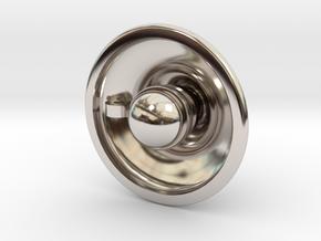 { pendant } Lamp in Rhodium Plated Brass