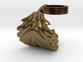 FLEURISSANT - Leaf ring #1 in Polished Bronze