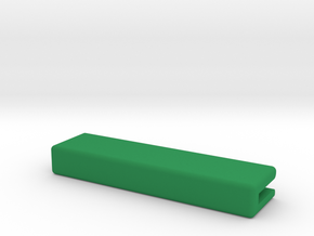 Catacombs (3rd Ed) barrier supports - Straight in Green Processed Versatile Plastic