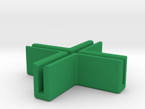 Catacombs (3rd Ed) barrier supports - Corner in Green Processed Versatile Plastic