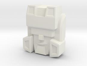 Hardhead Face, IDW (Titans Return) in White Natural Versatile Plastic