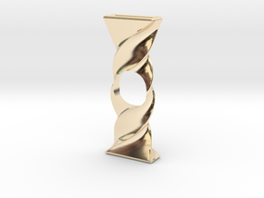 Twist Spinner in 14K Yellow Gold