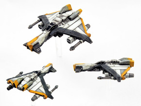 3-Pack Kihraxz Style Vaskai Fighter - Variant 2AB in Frosted Extreme Detail