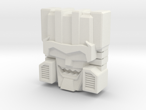 Skullcruncher Face, IDW (Titans Return) in White Strong & Flexible