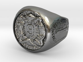 9th Infantry Regiment, 7th Infantry Division Round in Polished Silver