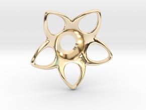 Star-Burst - Rosette Jacket Collar in 14k Gold Plated Brass: Small