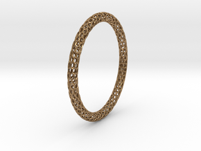 Hex Ring Bangle in Natural Brass