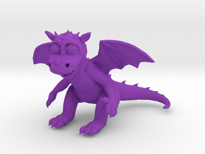 TheSilliestDragon3DMini in Purple Processed Versatile Plastic