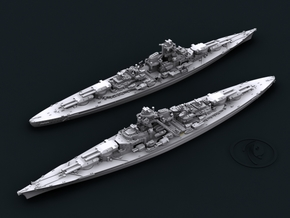 1/1800 KM BB Bismarck [1941] in White Natural Versatile Plastic