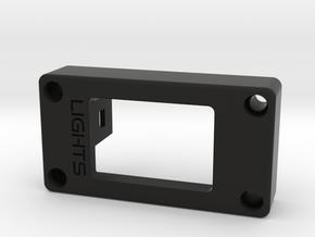 Custom Fiero Light Switch Mount in Black Natural Versatile Plastic