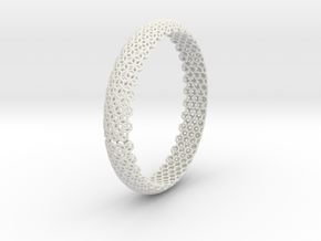 Hex Bangle 2 in White Natural Versatile Plastic