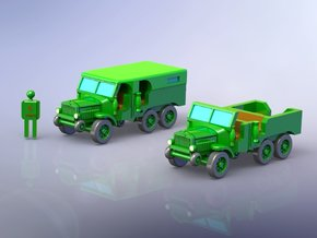 French Laffly S20TL Dragoon Truck 1/285 in Smooth Fine Detail Plastic