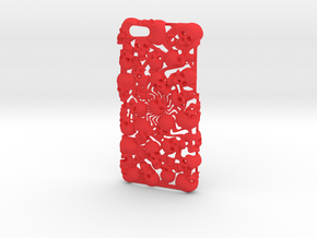 iPhone 6 Skull Case in Red Processed Versatile Plastic