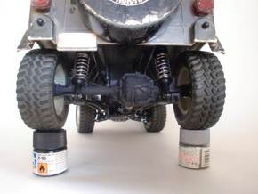 CC01 REAR AXLE HOUSING FOR TAMIYA WRANGLER in White Natural Versatile Plastic