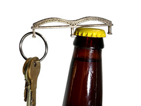 Hernando De Soto Bridge Bottle Opener Keychain in Stainless Steel