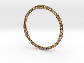 Twist Bangle in Polished Brass