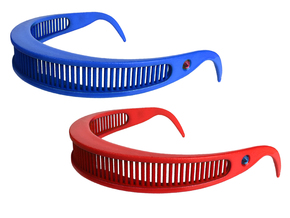 Star Trek Visor Shades in Blue Strong & Flexible Polished: Small