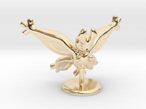 Shiny Mothim in 14k Gold Plated Brass
