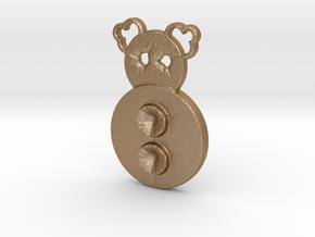 two button clown in Matte Gold Steel