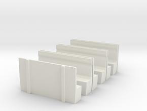 LCDR Brake seating - OO in White Natural Versatile Plastic