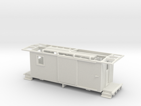 NCNGRR Caboose Sn3 in White Natural Versatile Plastic