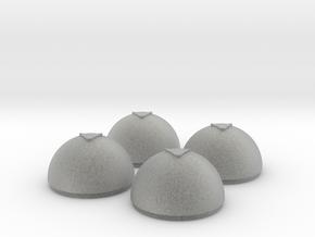 1/24 Torpedo Tube Warhead Inserts (4) in Metallic Plastic
