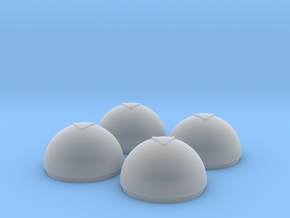 1/24 Torpedo Tube Warhead Inserts (4) in Smooth Fine Detail Plastic