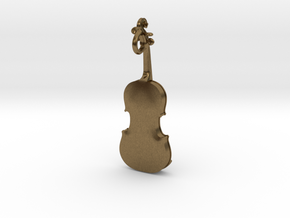 Violin Pendant in Natural Bronze