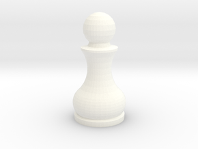 Pomo Pawn in White Processed Versatile Plastic