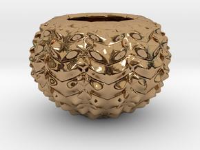 Hard Shred Cup/Vase/Sculpture in Polished Brass