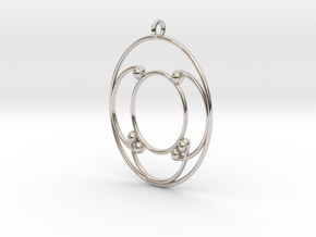 Oval Pendant in Rhodium Plated Brass