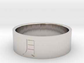 Ring Japanese Kanji means moon in Rhodium Plated Brass: 7 / 54