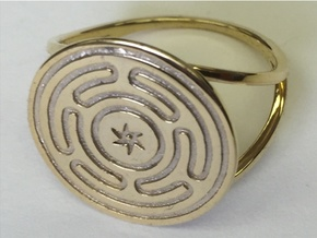 Wheel of Hecate ring (choose size) in 14k Gold Plated