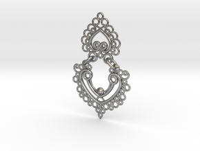 BlakOpal Linked Earring in Interlocking Raw Silver