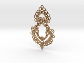 BlakOpal Linked Earring in Polished Brass (Interlocking Parts)