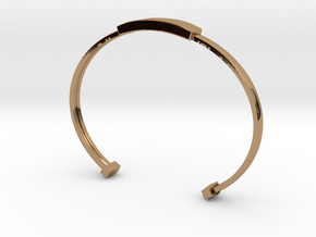 Minimalist Bangle (Sizable) (Personalisation Avail in Polished Brass