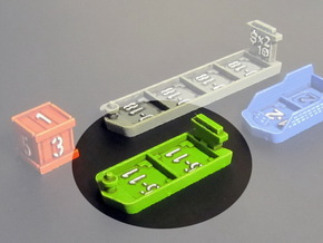 Cargo ships (4 pcs) in Green Processed Versatile Plastic