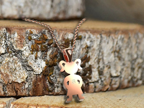My Special Girl Pendant in 14k Rose Gold Plated Brass