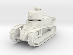 PV06 Renault FT MG Cast Turret (28mm) in White Strong & Flexible