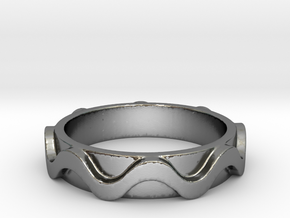 Copa band Ring Size 6 in Polished Silver: 6 / 51.5