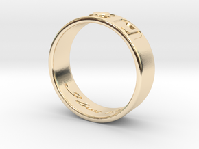 R + J Ring in 14K Yellow Gold: 6 / 51.5