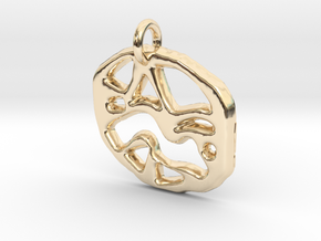 abstract shapes in 14k Gold Plated Brass