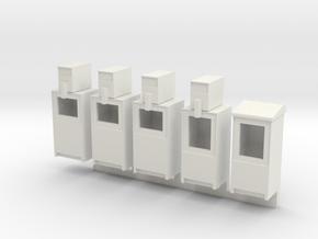 Newspaper Boxes in O scale in White Natural Versatile Plastic