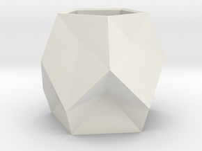 5 Faceted Pot 1(origin) in White Natural Versatile Plastic
