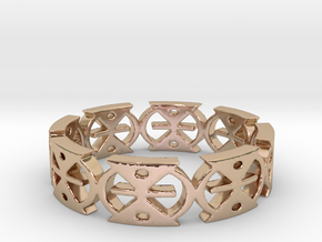 MMERE DANE (time changes) Ring Size 7 in 14k Rose Gold Plated