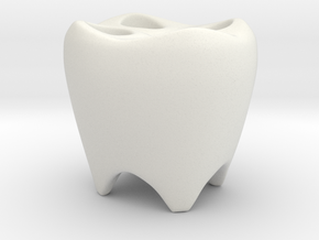 TOOTHBRUSHES HOLDER in White Strong & Flexible