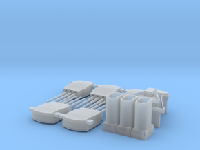1:700 Tillman superstructure,funnels, and turrets in Smoothest Fine Detail Plastic