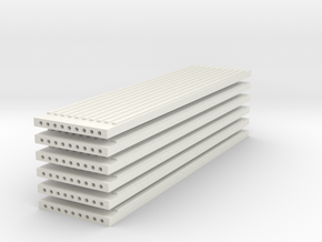 'N Scale' - (6) Precast Panel - Ribbed - 40'x10'x1 in White Strong & Flexible