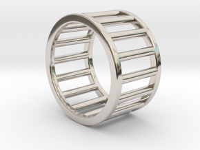 Albaro Ring Size-4 in Rhodium Plated Brass