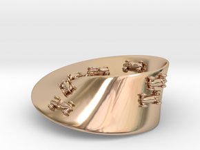 Moebius Racing Strip Pendant in 14k Rose Gold Plated Brass